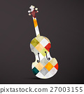 Violin. Abstract Vector Musical Instrument. 27003155