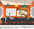 Man on Business Conference Vector 27004322