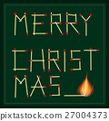 Merry Christmas Safety Matches Vector Text 27004373