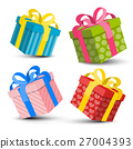 Gift Boxes Set Vector 27004393