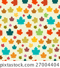 Seamless Maple Retro Vector Background. 27004404