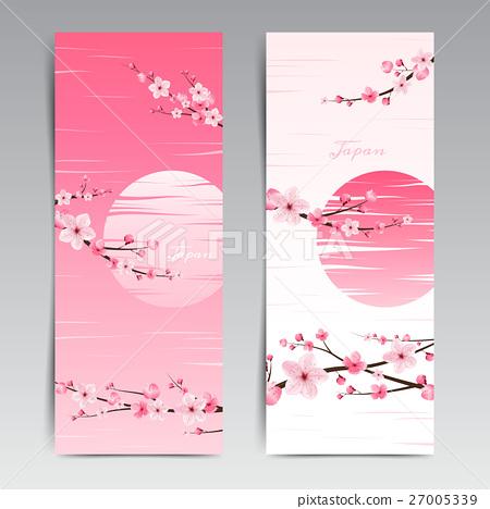 cherry blossom realistic vector, sakura, japan 27005339