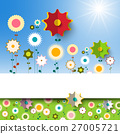 Flowers Garden. Vector Spring Background. 27005721