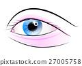 Women Eye. Blue and Pink Vector Eye 27005758