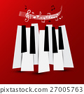 Music Symbol. Vector Piano Keys with Staff  27005763