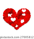 Heart Symbol Made from Small Red Hearts. 27005812