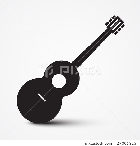 Guitar Icon. Simple Vector Musical Instrument. 27005815