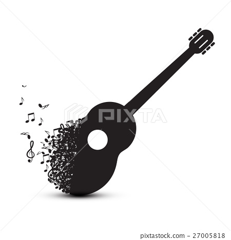 Guitar Made from Notes. Vector Music Symbol. 27005818