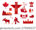 Canada sign and symbol, Info-graphic elements. 27006037