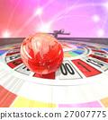 輪盤賭 地球儀 土地 27007775