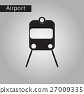 black and white style icon train airport 27009335