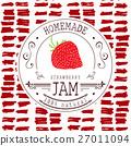 擁擠 果醬 草莓 27011094