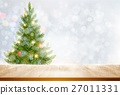 Holiday background with a Christmas tree 27011331