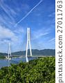 shimanami sea route, tatara bridge, bridge 27011763