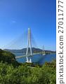 shimanami sea route, tatara bridge, bridge 27011777
