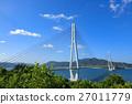 shimanami sea route, tatara bridge, bridge 27011779
