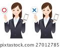 对与错 圆圈和十字 智能手机 27012785