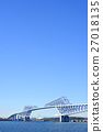 도쿄 게이트 브릿지 쾌청 27018135