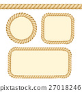 Different Thickness Rope Frames and Borders Set 27018246
