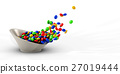 illustration of colorful fly candies 27019444