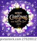 vector Merry Christmas and Happy New Year 2017 27020012