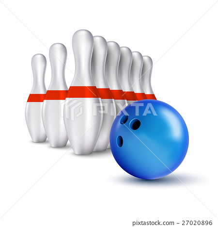 Ball and pins of bowling 27020896
