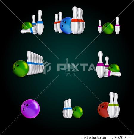 Bowling skittles and bowls  27020912