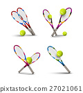 Vector tennis symbols as design elements 27021061