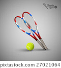 Vector tennis symbols as design elements 27021064