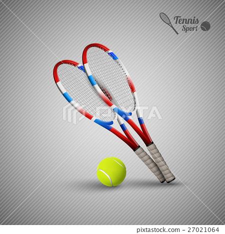 Vector tennis symbols as design elements 27021064