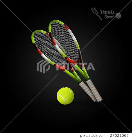 Vector tennis symbols as design elements 27021065