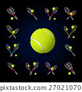 Vector tennis symbols as design elements 27021070