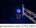 moon in a basketball hoop. 27021863