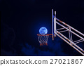 moon in a basketball hoop. 27021867