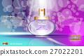 Digital vector purple and blue glass perfume 27022201