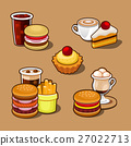 Set of colorful cartoon fast food. 27022713