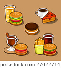burger, vector, hamburger 27022714