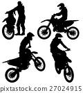 Set of biker motocross silhouettes, Vector 27024915