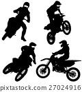 Set of biker motocross silhouettes, Vector  27024916