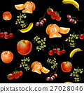 watercolor painting many fruits seamless pattern 27028046