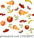 watercolor painting many fruits seamless pattern 27028047
