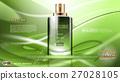 Digital vector green glass perfume for men 27028105