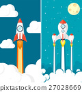 Rocket ship. Launch. Space travel. Start up 27028669