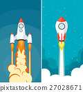 Rocket ship. Launch. Space travel. Start up 27028671