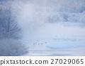 樹氷と霧とタンチョウのねぐら 27029065