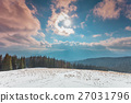 Amazing evening winter landscape. 27031796