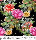 ดอกไม้,แบบ,สีน้ำ 27032219