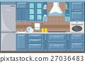 vector, kitchen, interior 27036483
