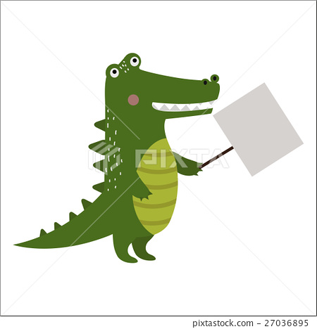 Wild animal crocodile strike with clean plate 27036895