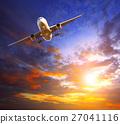 passenger jet plane over sky 27041116